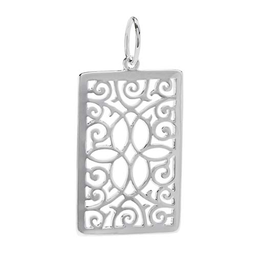 PN1006 Silver Filigree Photo Frame Pendant Catcher V2 copy